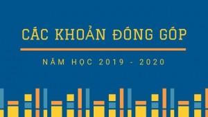 Các khoản đóng góp năm học 2019 – 2020