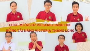 Victoria Thăng Long chúc mừng 07 Vicsers đạt học bổng tài năng Victoria Thăng Long